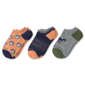 3-Pack Boys Jake & Dinosaur Low Cut Socks