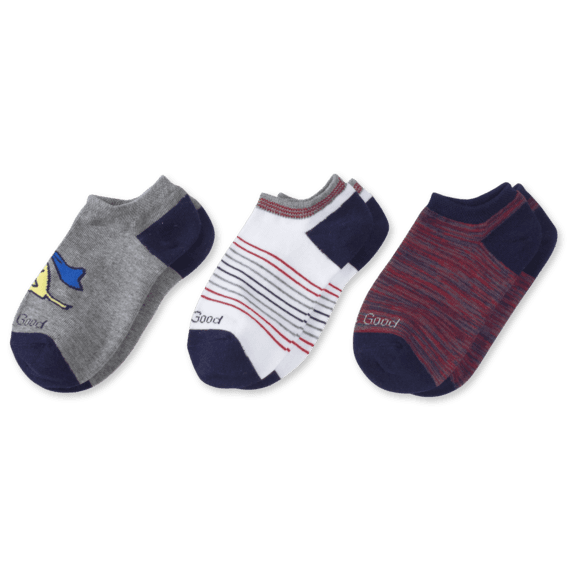 3-Pack Boys Super Rocket Low Cut Socks