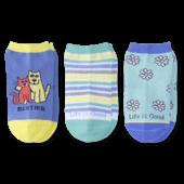 3-Pack Girls Daisy & Besties Low Cut Socks