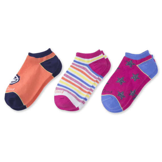 3-Pack Girls Jake & Stars Low Cut Socks
