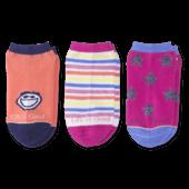 3-Pack Girls Jake & Stars Low Cut Socks