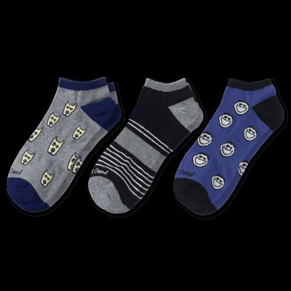 3-Pack Men's Jake & Rocket Low Cut Socks