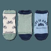3-Pack Women's Bike & Tree Low Cut Socks