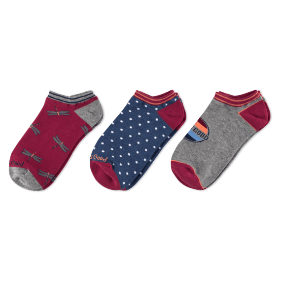 3-Pack Women's Dragonfly Low Cut Socks