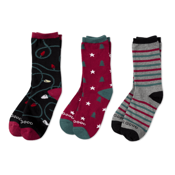 Life is Good Womens 3-Pack Low Cut Socks