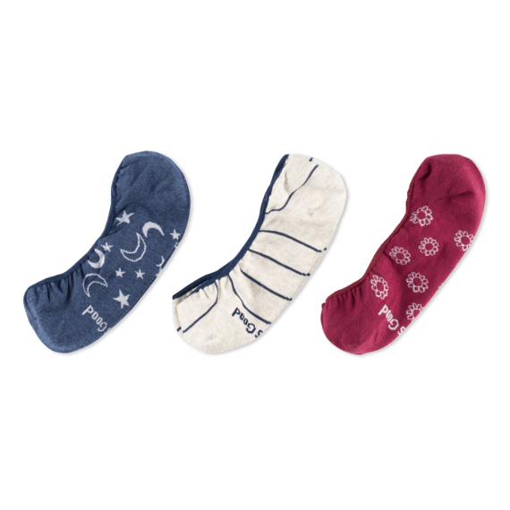 3-Pack Women's Sun & Moon Liner Socks