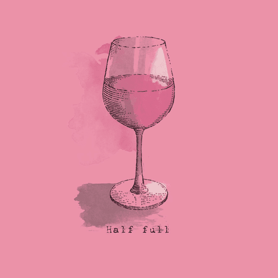Half Full Wine Wall Art