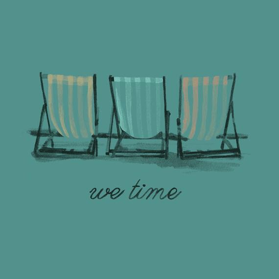 We Time Beach Chairs Wall Art