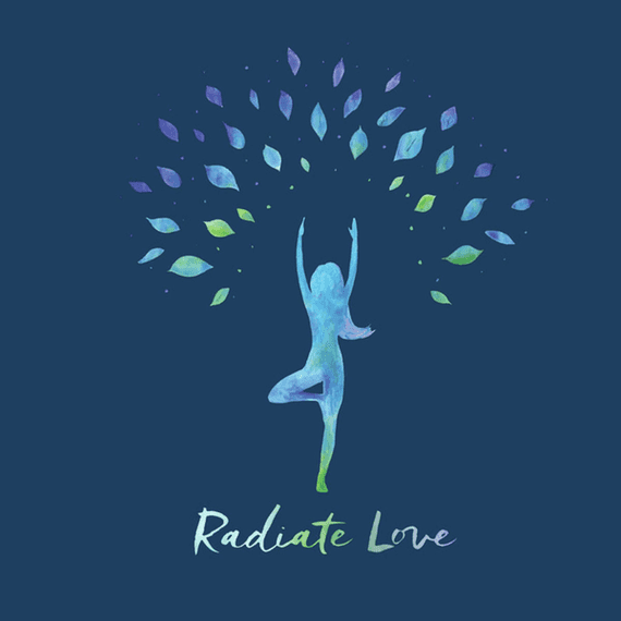 Radiate Love Tree Wall Art