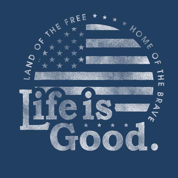 Life Is Good Flag Circle Wall Art