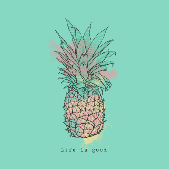 Home Life Is Good Pineapple Wall Art | Life is Good® Official Site