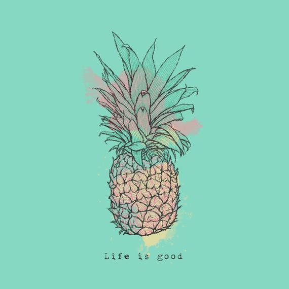 Life Is Good Pineapple Wall Art