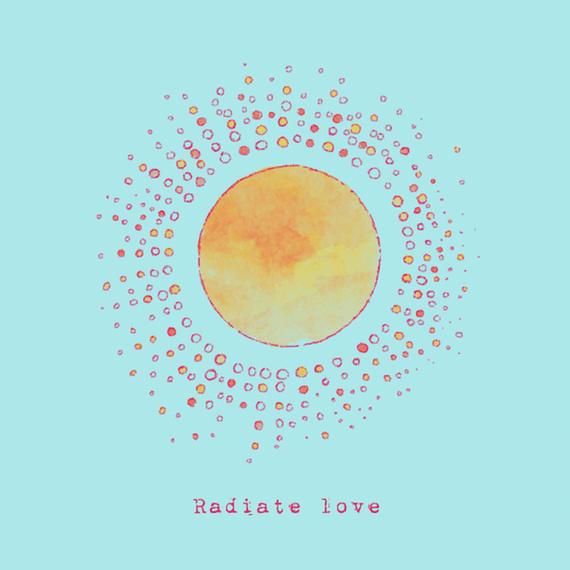 Radiate Love Sun Wall Art