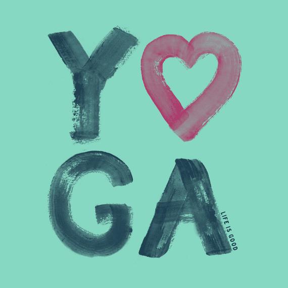 Yoga Heart Wall Art