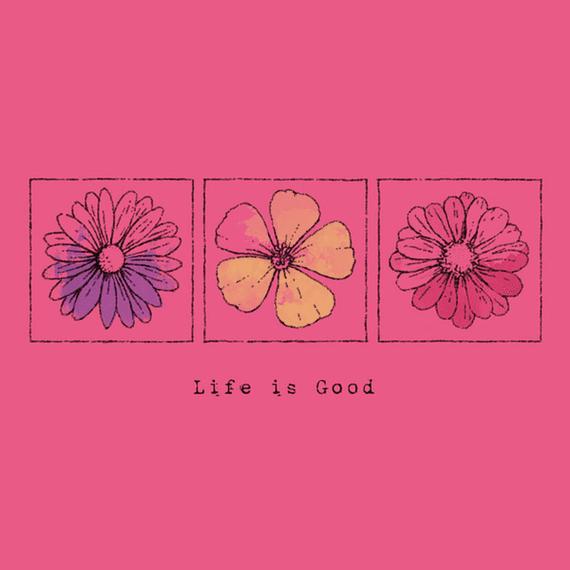 Three Flowers Engraved Wall Art