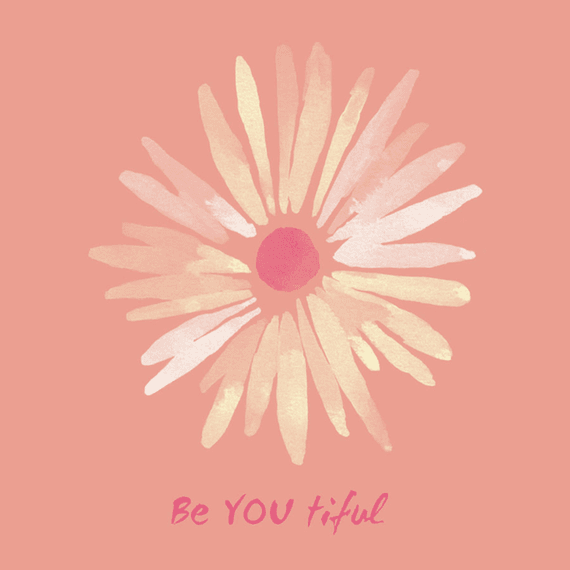 Be You Tiful Flower Wall Art
