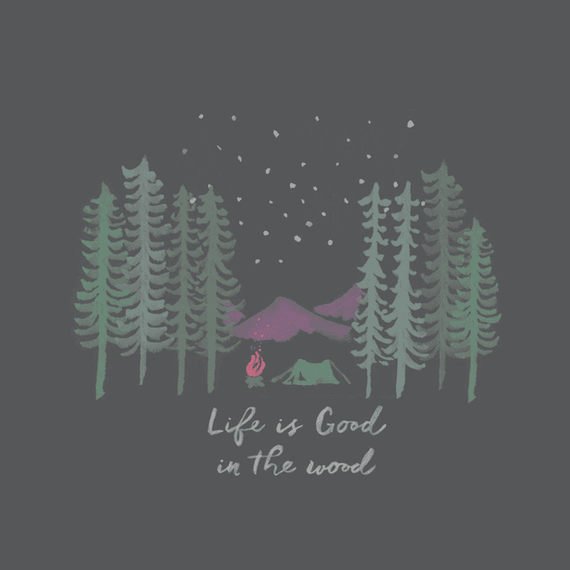 Home Life Is Good In The Woods Wall Art | Life is Good® Official Site