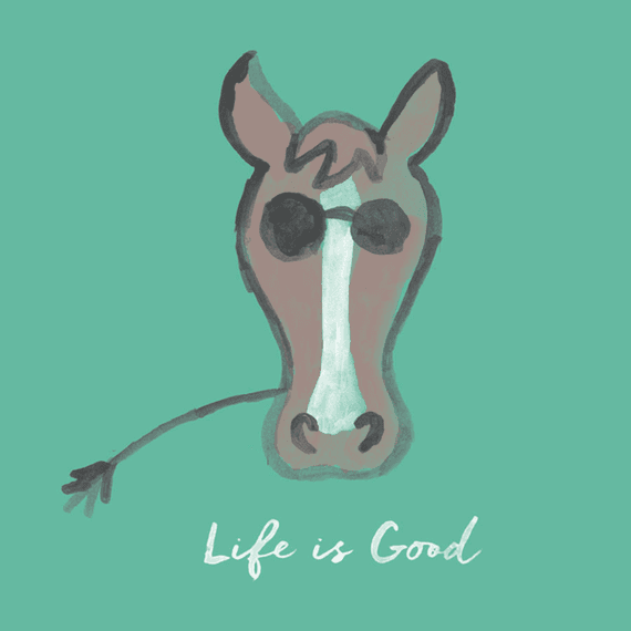 Life Is Good Horse Wall Art