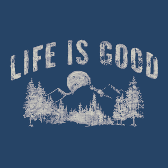 Life Is Good Night Mountain Wall Art