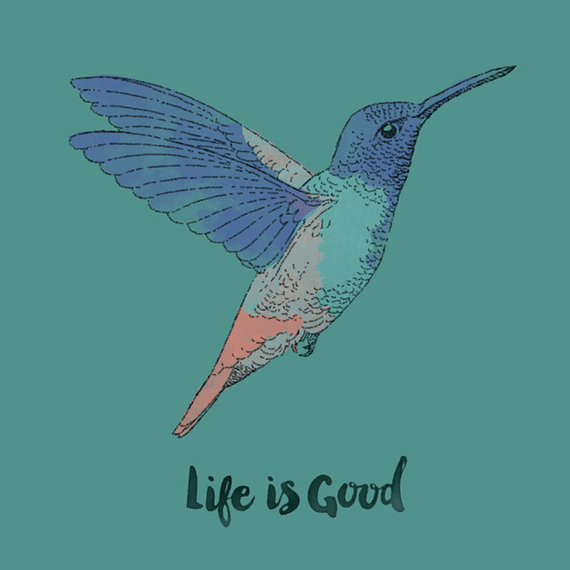 Life Is Good Hummingbird Wall Art