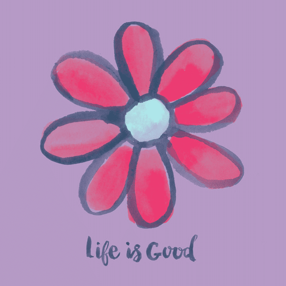 Life Is Good Red Daisy Wall Art