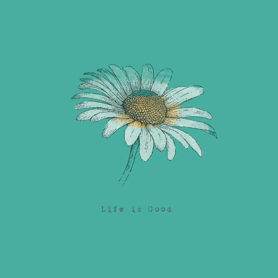 Daisy Life Is Good Engraved Wall Art