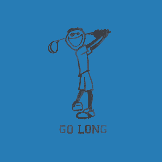 Go Long Golf Wall Art