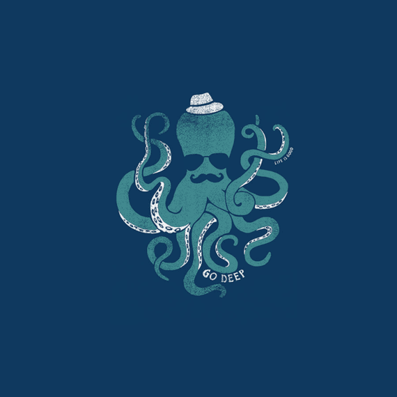 Go Deep Octopus Wall Art