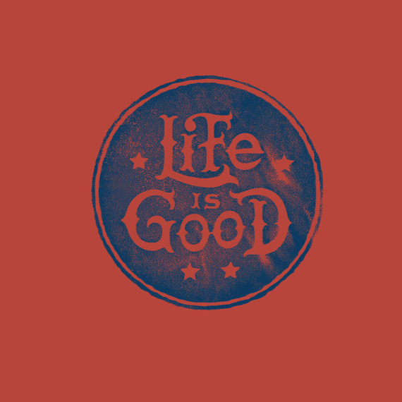 Stacked Life Is Good Circle Wall Art