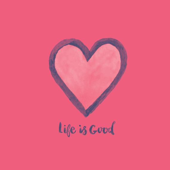 Life Is Good Heart Wall Art