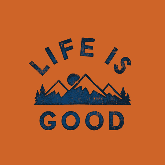 Life Is Good Mountains Wall Art
