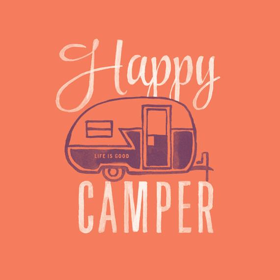 Happy Camper Watercolor Wall Art