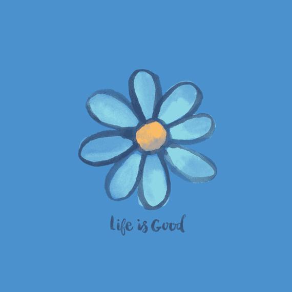 Daisy On Blue Wall Art