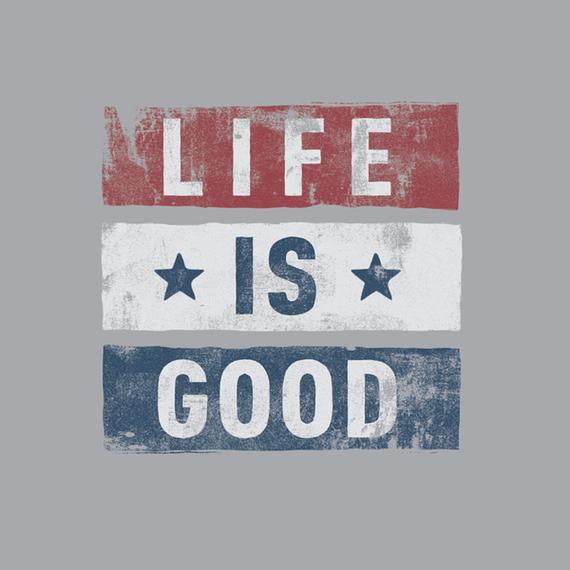 Stars Stripes Life Is Good Wall Art