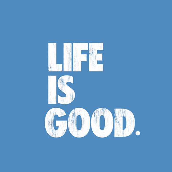 Life Is Good Block Wall Art