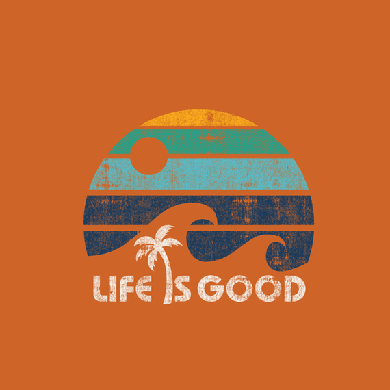 Life Is Good Wave Stripe Wall Art