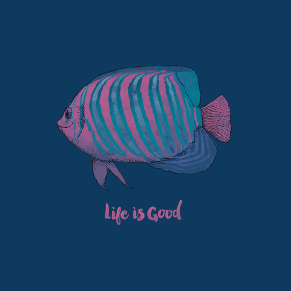 Tropical Fish Life Is Goodife Is Good Wall Art