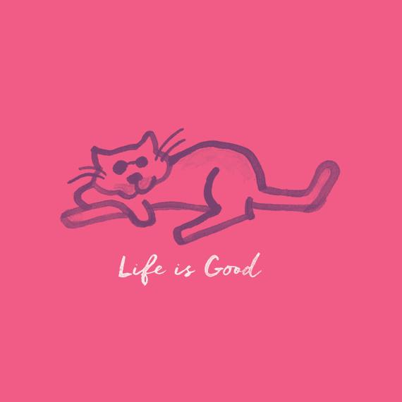 Life Is Good Cat Wall Art