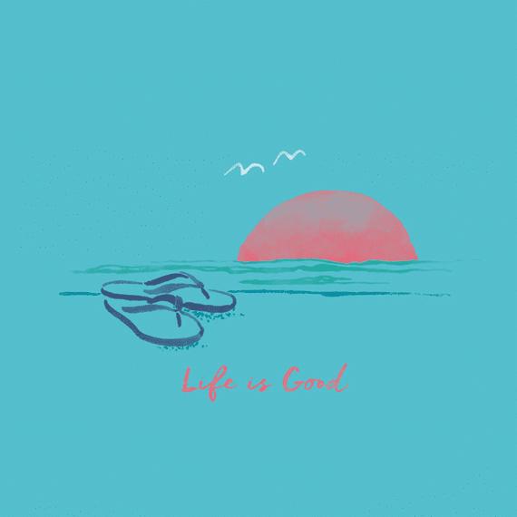 Flip Flop Sunset Wall Art