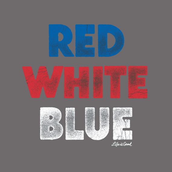 Red White Blue Wall Art