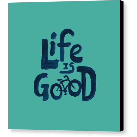 Life Is Good Bike Painted Wall Art