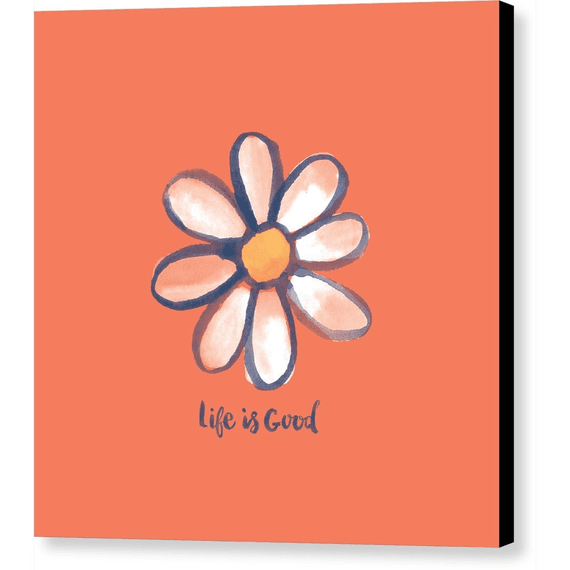 Daisy On Orange Wall Art