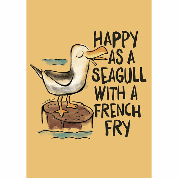 Happy As A Seagull 16X20 Poster