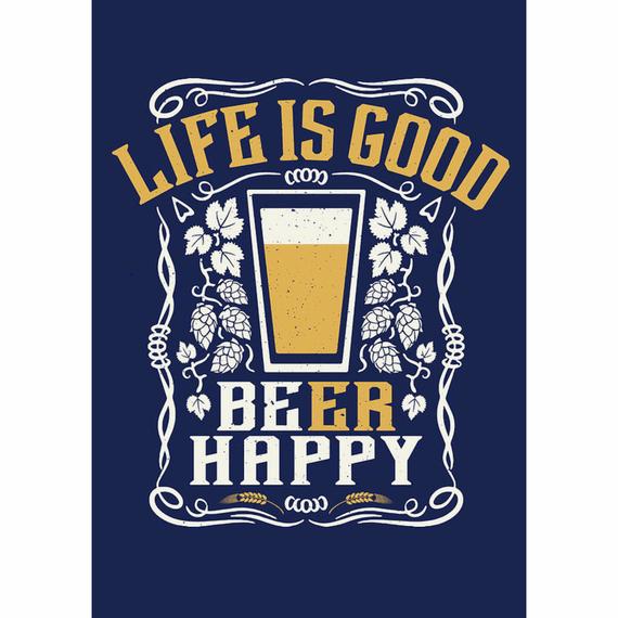 LIG Beer Happy 16X20 Poster