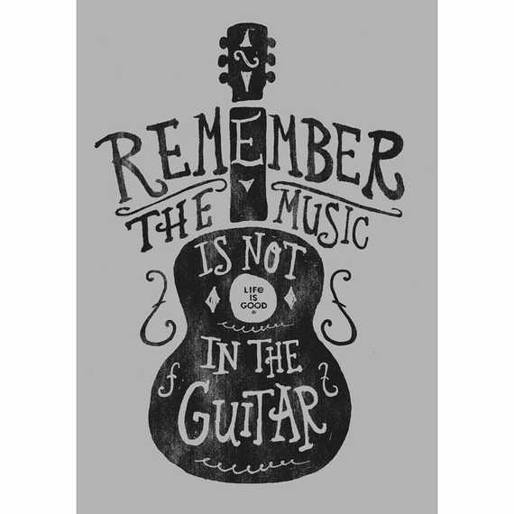 Music Is Not In The Guitar 16X20 Poster