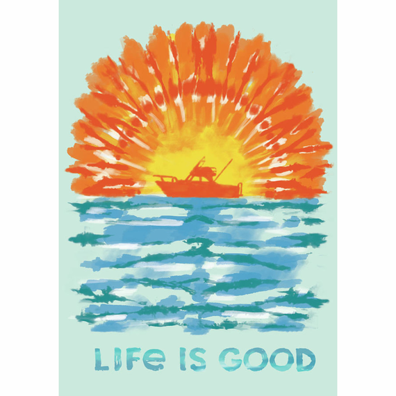 Tie Dye Boating 16X20 Poster