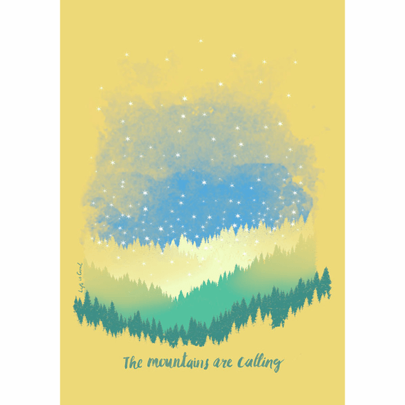 Mountains Are Calling 16X20 Poster