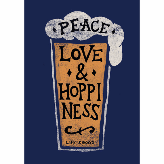 Peace Love And Hoppiness 16X20 Poster