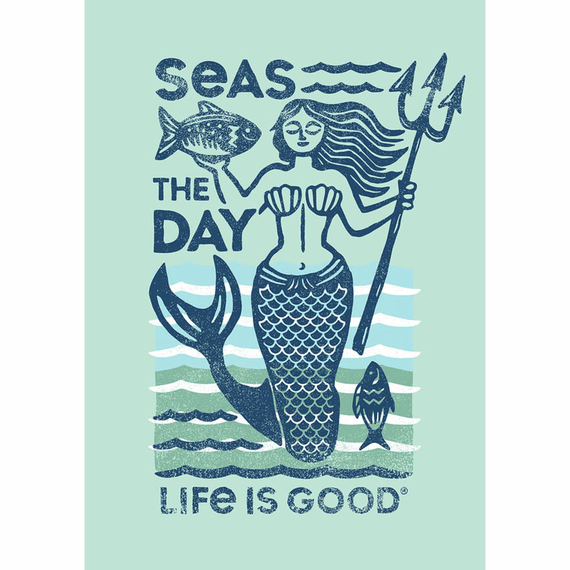 Seas The Day Mermaid 16X20 Poster
