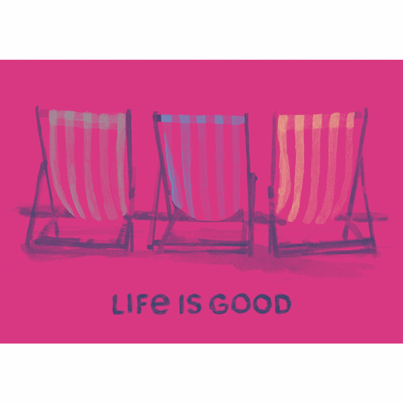 Beach Chairs Watercolor 20X16 Poster